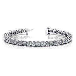 9.46 Carats Round Diamond Tennis Bracelet 43 Stone